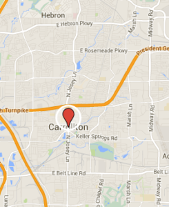 Map of Carrollton